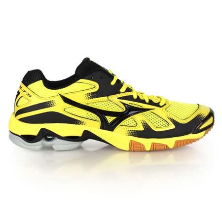 (男) MIZUNO WAVE BOLT 5排球鞋- 美津濃 羽球鞋 黃黑