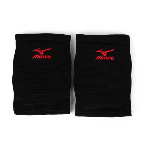 MIZUNO 運動用排球護膝 -成人用愛 買 英文護膝 防撞護膝 美津濃 紅黑 M