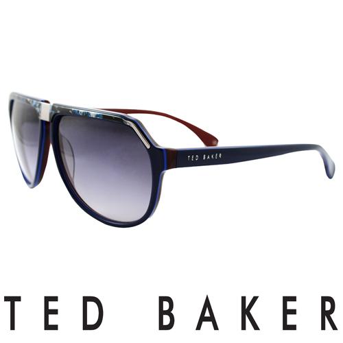 TED BAKER 倫敦 復古 太陽眼鏡^(紅^) TB1239~625
