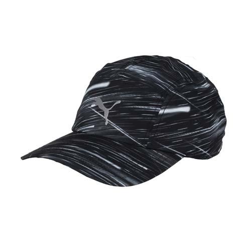 PUMA 慢跑系列棒球帽 -帽子 路s0go 百貨跑 防曬 老帽 鴨舌帽 迷彩黑 F