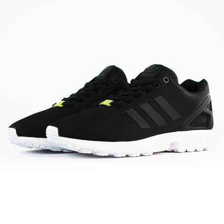 adidas 男女 Originals ZX FLUX 愛迪達 復古鞋 黑 - M19840