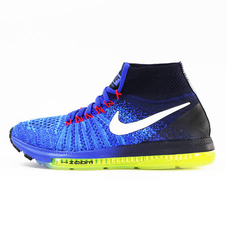 nike 女 WMNS NIKE ZOOM ALL OUT FLYKNIT  慢跑鞋 黑/藍 - 845361401