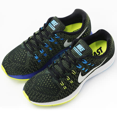nike 男 NIKE AIR ZOOM STRUCTURE 19  慢跑鞋 黑 - 806580010