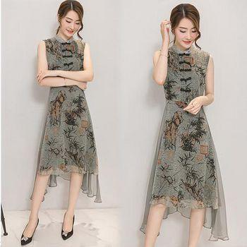 韓國KW (預購)KBN1542設計顯瘦輕質感洋裝 -綠