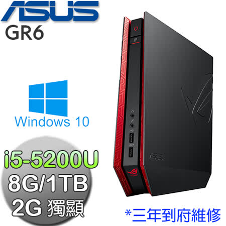 ASUS華碩 GR6【電競旗艦】i5-5200U GTX960獨顯 8G記憶體 Win10迷你電競電腦(GR6-5204ATE-G)★附無線鼠鍵組+1TB雲端硬碟序號卡