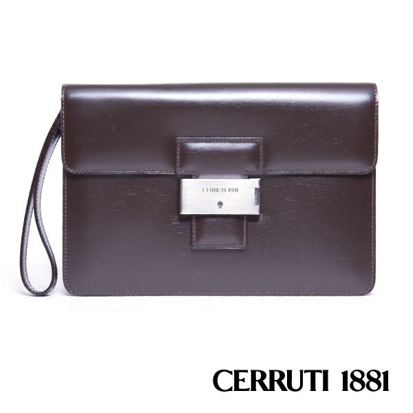 CERRUTI 1881 義大利進口 手包 咖啡色 020F-E0802