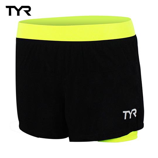 美國TYR 女款透氣排汗短褲 Ladies Running Shos0go 百貨rt Lime台灣總代理