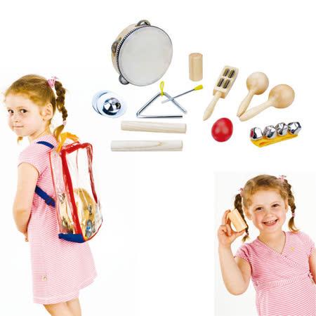 【華森葳兒童教玩具】樂器教具系列-打擊樂器9件組 H3-DMM063