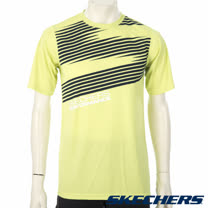 SKECHERS 男短袖衣 - YMTS13LIME