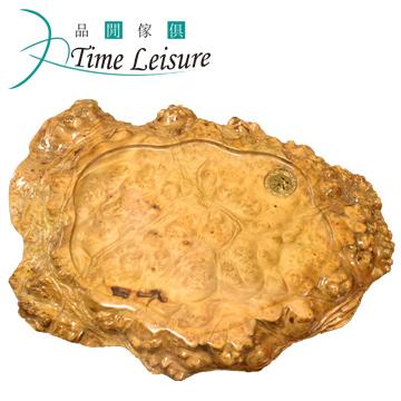Time Leisure 品閒 黃金樟樹瘤實木茶几 A8 51x36x5cm