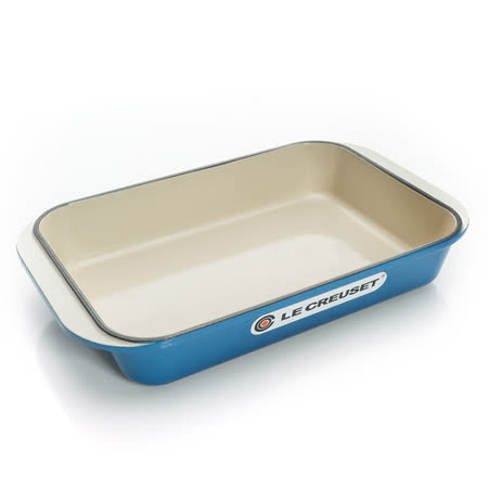 【LE CREUSET 單品特賣】長方鐵烤盤 30 (馬賽藍)
