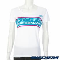 SKECHERS 女短袖衣 - YWTS02WHT