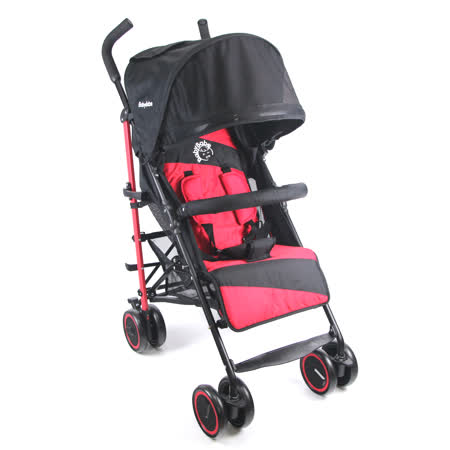 BabyBabe 新款全罩式加寬平躺傘車 (時尚紅)