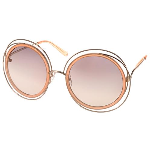 Chloe 太陽眼鏡 復古元素細緻金屬框款 ^(粉膚~金^) ^#CL120S 724