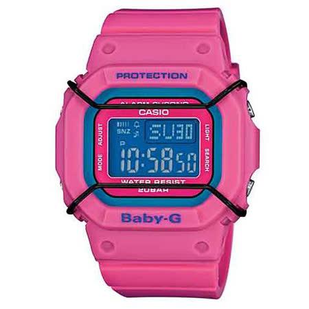 CASIO 卡西歐 Baby-G 時尚潮流防水電子運動桃紅腕錶/40mm/BGD-501-4