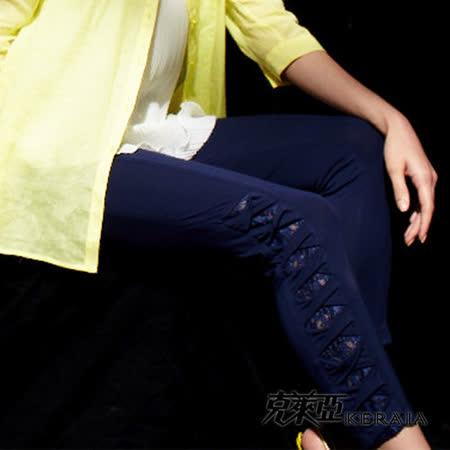 【克萊亞KERAIA】褲口交叉綁帶彈性內搭褲