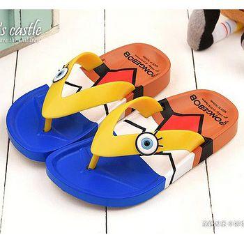 童鞋城堡 海綿寶寶 中童 造型夾腳拖鞋SG2790 藍