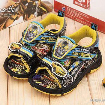 童鞋城堡 變形金剛 中童 大黃蜂酷炫涼鞋TF3229 黃