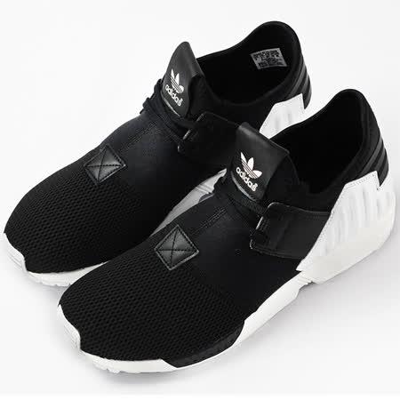 adidas 男女ZX FLUX PLUS  經典復古鞋 黑 S75932