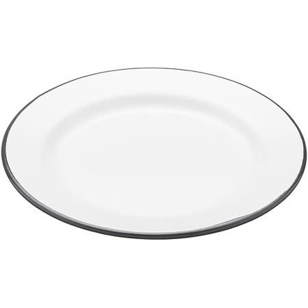 《KitchenCraft》復古琺瑯淺餐盤(圓20cm)