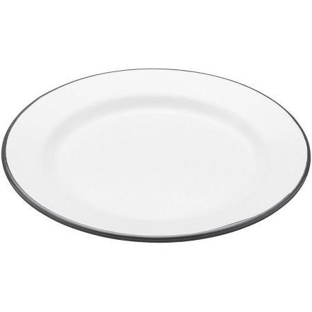 《KitchenCraft》復古琺瑯淺餐盤(圓24cm)