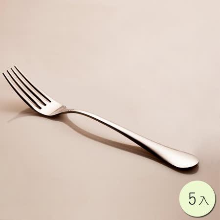 PUSH! 餐具不銹鋼叉子牛排叉水果沙拉叉西餐叉餐叉5入組E34