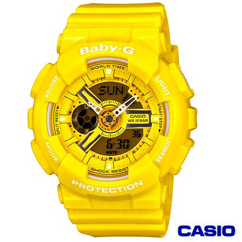 CASIO卡西歐 Baby~G 活力搶眼指針 雙顯錶 BA~110BC~9A