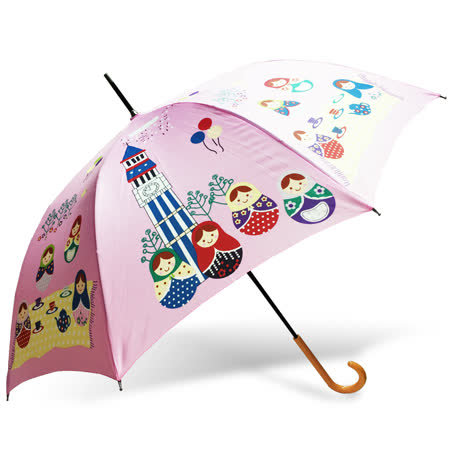 【rainstory】俄羅斯娃娃抗UV自動開直骨傘