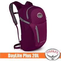 【美國 OSPREY】Daylite Plus 20L 超輕多功能隨身背包/攻頂包(附爆音哨+可調多孔式背負系統+腰帶).單車隨行包.輕便自行車日用包_茄子紫 R