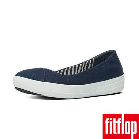 FitFlop™-(女款)F-SPORTY™ BALLERINA CANVAS-海軍藍