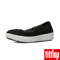 FitFlop™-(女款)F-SPORTY™ BALLERINA CANVAS-黑色