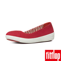 FitFlop™-(女款)F-SPORTY™ BALLERINA CANVAS-正紅