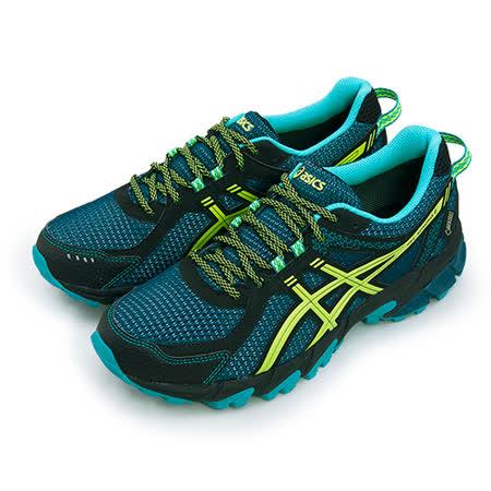 【男】ASICS亞瑟士 專業越野慢跑鞋 GEL-SONOMA 2 G-TX 藍黑黃 T638N-5807