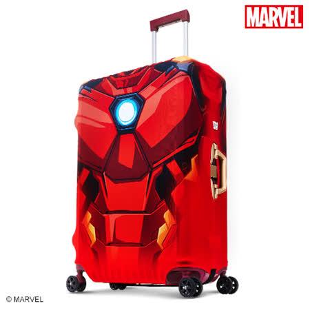 【Marvel】漫威英雄造型防刮彈性布行李箱箱套-鋼鐵人(L)