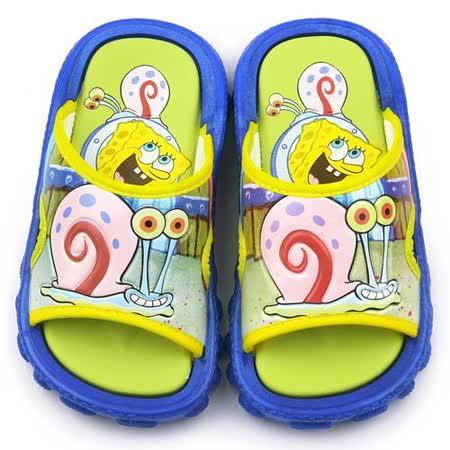 童鞋城堡-海綿寶寶 中童 小蝸戶外拖鞋SG2714-藍