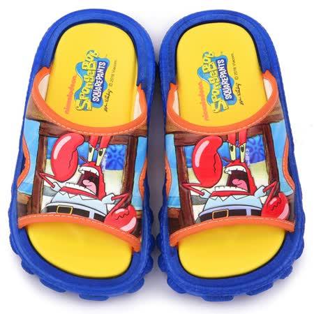 童鞋城堡-海綿寶寶 中童 蟹老闆戶外拖鞋SG2771-藍