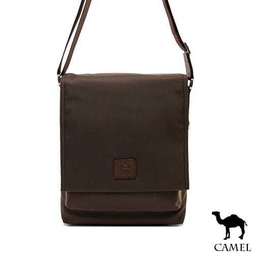 CAMEL ~ 倫敦品味十字紋防潑水牛皮掀蓋側背包~共2色