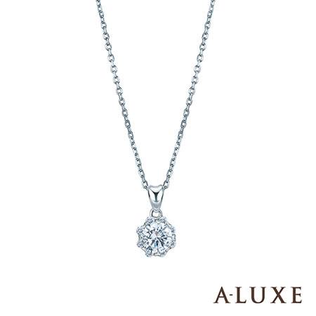 A-LUXE 亞立詩 18K金0.30克拉 FVS2愛心爪完美車工鑽石項鍊