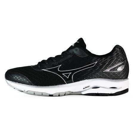 Mizuno 男 WAVE 慢跑鞋 WAVE RIDER 19 美津濃 慢跑鞋 黑 J1GC160311