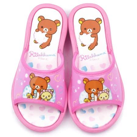 童鞋城堡-拉拉熊 中大童 甜美可愛戶外拖鞋KM26105-粉