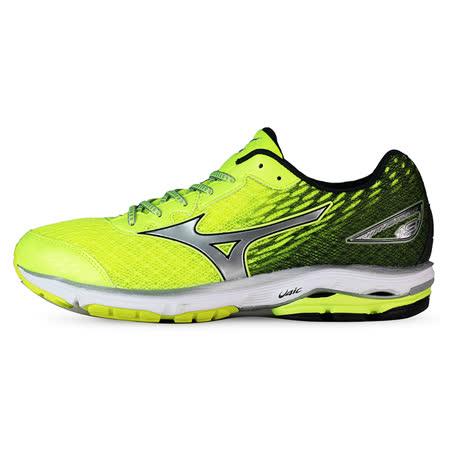 Mizuno 男 WAVE 慢跑鞋 WAVE RIDER 19 SW 美津濃 慢跑鞋 螢綠 J1GC160405