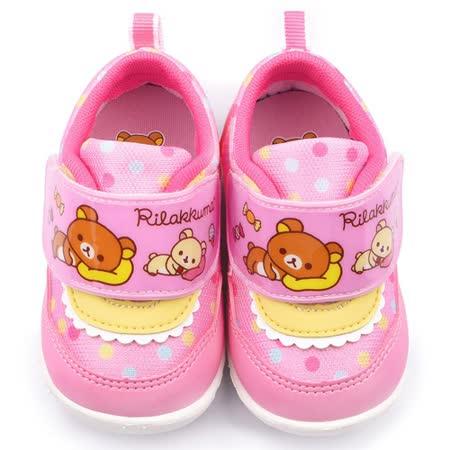 童鞋城堡-拉拉熊 小童 甜美可愛學步鞋KM82035-粉