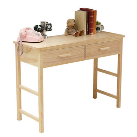 [自然行] 多機能書桌/ 兩用桌 (寬110cm/水洗白色)