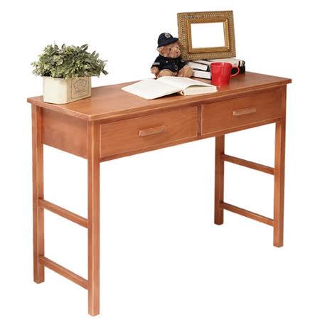 [自然行] 多機能書桌/ 兩用桌 (寬110cm/溫暖柚木色)