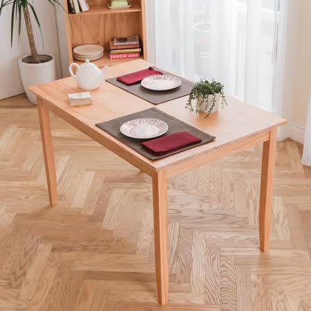 [自然行]-實木桌74x118cm (溫暖柚木色)