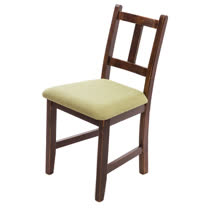 [自然行]-Avigons南法原木椅(焦糖色)抹茶綠椅墊