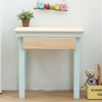 [自然行] 原木兒童家具 兒童學習桌(Marshmallow/嬰兒藍/安全環保塗裝)
