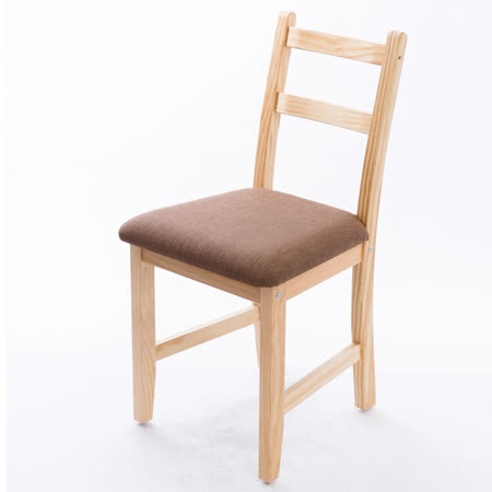 [自然行]-Reykjavik北歐木作椅(扁柏自然色)深咖啡椅墊
