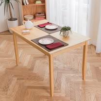[自然行]-實木桌74x118cm (扁柏自然色)
