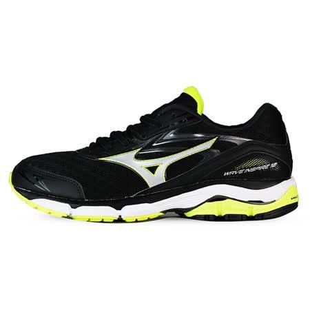 Mizuno 男 WAVE 慢跑鞋 WAVE INSPIRE 12 美津濃 慢跑鞋 黑 J1GC164406